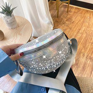2020 tote Women crystal waist bag diamond Handbags Shoulder loin waist Pocket Bag Christmas Gift