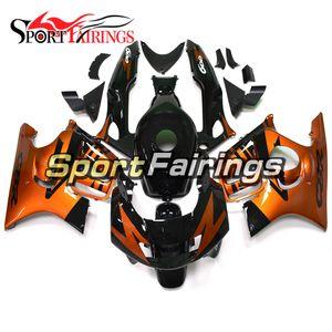 Motosiklet Kalafatlama için F3 CBR600 97 98 Honda CBR600 1997 1998 Tam ABS Enjeksiyon Kalıp Motosiklet Kaporta Takımı Turuncu Siyah