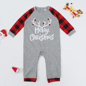 Adult Pajamas Pyjamas Set Kids 2020 Xmas Nightwear Baby Romper Merry Christmas Family Matching Outfits2021 new