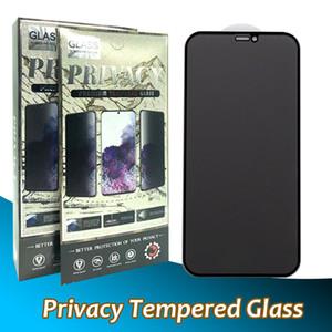프리미엄 프라이버시 아이폰 12 용 강화 유리 12 미니 11 Pro Max XR XS 7 8 Plus Anti-Spy 전체 커버 9D 화면 보호기