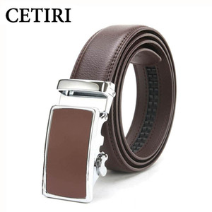 CETIRI الرجال أحزمة اسئلة الصلبة البقر الحقيقي مصمم جلدية أحزمة عالية الجودة التلقائي مشبك حزام الخصر cinturon HOMBRE