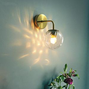 Modern Wall Lamp Glass Ball Retro Wall Light Bedroom Bedside Lamp Restaurant Aisle Corridor Wandlamp Sconce Light Fixture