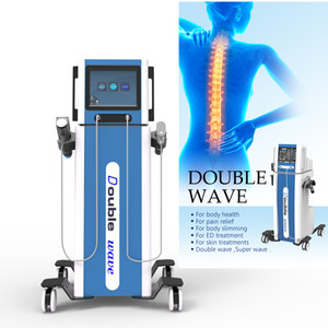 2 in 1 Physical Therapy Pneumatic Shockwave Back Pain Relieve Shock Wave Lose Weight machine with 2 handles