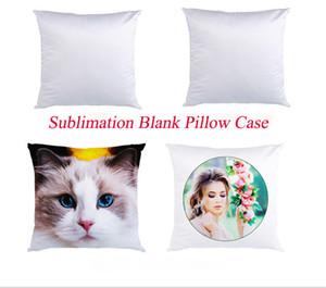 Blank Sublimation Plain White oreiller Mode Coussin Taie Couverture pour Heat Press Throw impression d'oreiller Couvertures décoratives