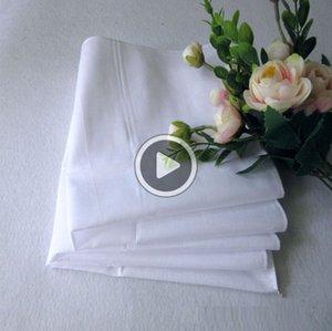 Satin Male Handkerchief Suit White Pure Table Handkerchief Cotton Cotton Whitest Mens Pocket Sqre Hankerchiefs Towel Loius