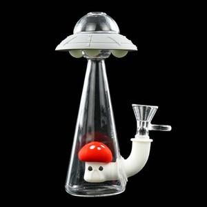 UFO Водопроводных труб нефтяной вышки Гласс Бонг силиконовых курить руку водопроводной трубы силиконового масла станкам Бонг Кальяны Free Стеклянной чаша кальян бонг
