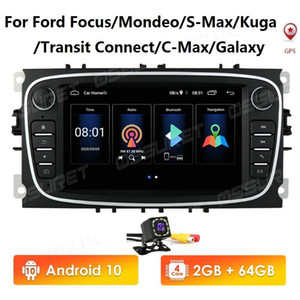 7inch Android 10 GPS Car Radios Multimedia player Audio DVD Player For  Focus S-Max Mondeo  GalaxyC-Max  Kuga  Transit car dvd