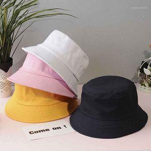 Cloches Unisex Summer Foldable Bucket Hat Women Outdoor Sunscreen Cotton Fishing Hunting Cap Men Basin Chapeau Sun Prevent Hats Gift1
