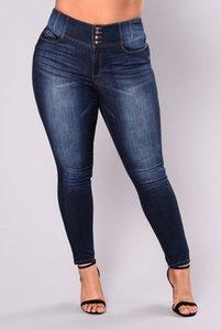 High Waist Calca Plus size 5XL Women Slim Long Fat Mom Sexy Ripped Denim Pants Push Up Boyfriend Jeans W0104
