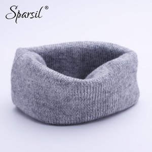 Sparsil Unisex Cashmere Knitted Ring Scarves Headband Super Elastic Double-Use Knit Mufflers Men Women Child Neck Wrap 20 Colors 201018