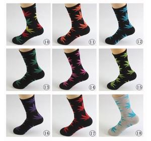 38 Renkler Noel plantlife Çorap Erkekler Kadınlar Yüksek Kalite Pamuk Çorap Kaykay Hiphop Maple Leaf Spor Çorap Toptan FY7301 için
