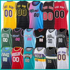 Personnalisé Annommer Nom Numéro Space Movie Jongu Squad Jersey 2020 2021 Nouveau Mesh Retro Los Custom Angeles Basketball Jerseys