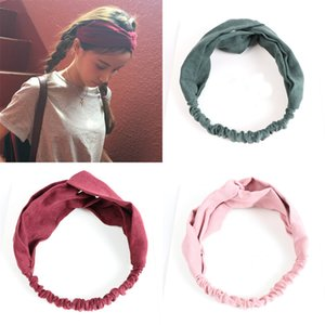 Summer Women Hair Bands Headbands Retro Cross Turban Bandage Bandana Headwear Hair Styling Accessories Headwrap Girls Headband
