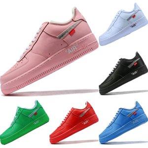 2020 AF1 Vintage Leather Low Cut скейтборд обуви Оригинал AF1 Буфер резиновый built_in Увеличить Air Наполняющие Спортивная обувь
