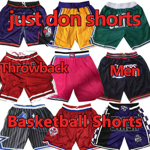 Lakers Pantalones cortos de baloncesto  James cosidos Just Don Shorts LeBron Carter Mitchell Ness Todos los equipos Sweetpants Pantalones de Baloncesto
