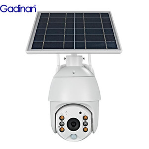Solar PTZ IP Camera 1080P 4G Wifi Shell Wireless HD Outdoor Surveillance Waterproof Cloud Outdoor IR PIR Motion Detection Camera