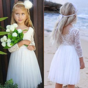 Party Wedding Baby Girls Dress Kids Baby Flower Lace Dresses For Girls Princess Christmas Birthday Toddler Child Costumes