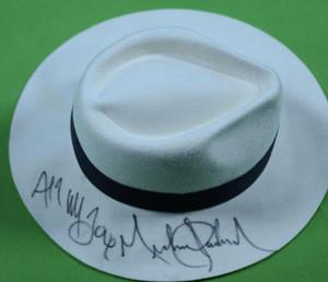 raccolta Michael Jackson manoscritto signatureed cappelli cap autografate
