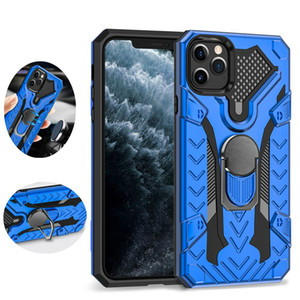 Magnetic Car Ring Stand Double Armor Case for iPhone 12 mini 11 Pro Max XS XR X 7 8 Plus SE 2020 Layer Phone Funda Rugged Cover for 12promax