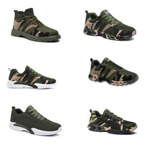 No-Brand Hotsale 2020 Дизайнерская обувь Мужчины Женщины кроссовки камуфляж Army Green Открытый тренер СИЭЗ 36-44 Style 3019