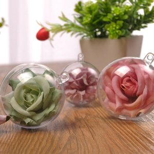 20pcs Transparent Plastic Fillable Christmas Ornaments Christmas Ball Christmas Party Hanging Props Tree Hanging sqcsze sports2010