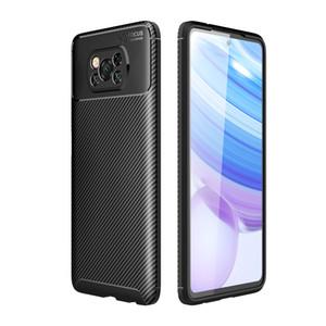 Fibre mince carbone design TPU étui souple pour Xiaomi Mi Poco X3 NFC 10 Ultra redmi 9A 10X Remarque 9S Note 9 Pro
