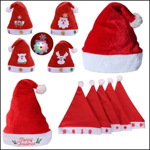 Soft Plush Christmas Hat Party For Baby Adult Santa Hats Red Decoration New Year Decoration Kids Gift Holiday Party Supplies