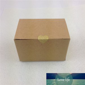 12Pcs Lot 9x6x6cm Brown Retro Style Kraft Paper Box Heart-shaped Stickers For Decoration Store Stationary Food Cakes Box In Bulk