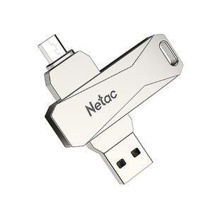NETAC U381 64 GB Mikro USB USB 30 360 Derece Rotasyon Çinko Alaşım Flash Sürücü OTG U Disk