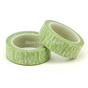 Diseño único de encargo salvaje Lifes Washi Tape 15 mm * 10 metros de planificador Palabras álbum de recortes en las cintas de enmascarar verde decorativo