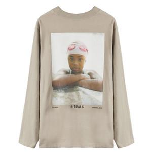 FEEAR OFF GOOD 6 레트로 세로 인쇄 긴 소매 티 하이 스트리트 패션 셔츠 커플 여성 남성 라이트 탄 4 스타일 T 셔츠 HFXHTX340