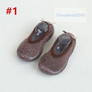 Детский Мальчики Девочки Малыши мокасины Non-Skid Крытых Детская напольная тапочка Детских Животных Открытый дышащий хлопок обувь носки, не скользят