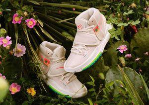 Kyrie 6 200 N7 Beige graffiti Basketball Shoess store Men Women Boy Girl Designer Shoe Sneakers With Box US5.5-12