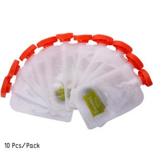 10шт свежевыжатых сумки Детские Отлучение Пюре многоразового Squeeze хранение сумка # 281643