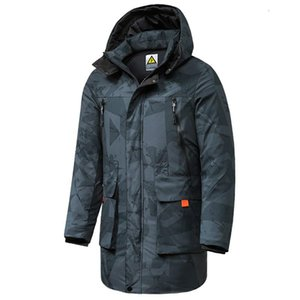 Мужские Parkas 8xL мужчины 2021 зимние куртки мужские повседневные длинные густые белые утиные слои мужские теплые карманы с капюшоном