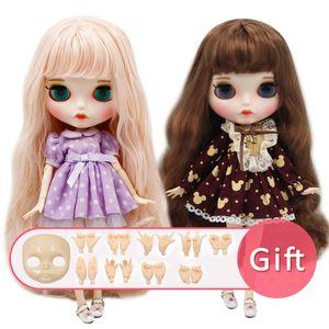 ICY BJD Блайт Doll Nude Нормальная и суставов тела с рукой набор AB и лицевая панель в качестве подарков моды Девочка 1/6 Doll 1011