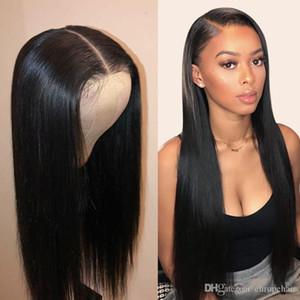 13x4 Frente de encaje Frontal Preparado con cabello para bebés 150% Frente de encaje Pelucas de cabello humano Brasileño Remy Peluca de pelo para mujeres negras Peluca de encaje completo