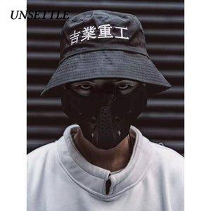 Desestabilizar 2020SS Harajuku chinesa Bordados Fisherman Hat chapéu da forma de algodão casuais dos homens / mulheres sol ajustável tampas de hip hop chapéus