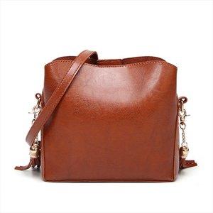 New WomenS Shoulder Bag Fashion Diagonal Tassel Bag Korean Version Of The Oil Skin Handbags Shoulder