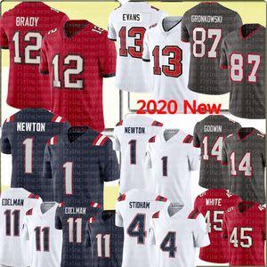 12 Tom Brady 87 Rob Gronkowski Jersey Julian Edelman 1 Cam Newton 4 Jarrett Stidham Jersey 13 Mike Evans 14 Chris Godwin 45 Devin Bianco