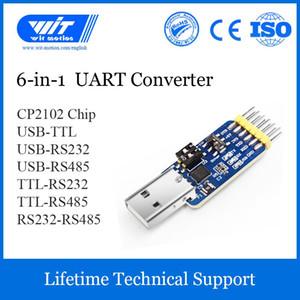 WitMotion USB UART 6-in-1 Dönüştürücü, çok fonksiyonlu bir USB-TTL / 485/232, L-RS232 / 485,232-485) Seri Adaptör, CH340 / CP2102 Çip