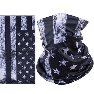 Hot Sports Mask Cycling Breathing Protective Face Mask America Flag Masks Scarf Bicycle Half Face Cover Design Face Shield Head Scarf