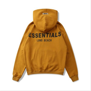 2021 FOG FEAR OF GOD ESSENTIALS Reflective Letter Printing Fashion Hoodie High Street Casual Hoodie Pullover Sweater Street Tmiej