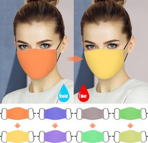 Color Changing Designer Face Masks Cold Hot Changed Magic Mask Women Adjustable Masks Anti Dust Cotton Face Mask Mouth-muffle Cover CZ101202