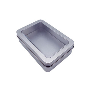 10.7*7*3cm Open Window Metal Storage Cases, Tin Boxes Steel Display Packaging Can Fr jlldGW yummy_shop