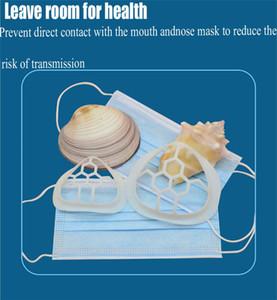 NEW Maske für Gesicht Einweg-Einbau-Silikon-3D-Gesichts-Bracket inneren Stützrahmen aus weichem Silikon-Halter für Comfortable BWE2478