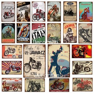 [DecorMan] Jawa BSA TT Motor Metal Sinais Pôsteres Pintura de Ferro Vintage Custom Club Decor