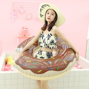 A beautiful room shaped doughnut inflatable PVC swimming ring swimming pool floating mat air cushion water cushion funny toy adult children