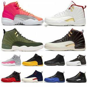 أعلى شيبمنت الحرة 12 رمادي داكن الرجال أحذية كرة السلة لعبة كرة السلة الملكي 12S الدولي كلاس الطيران OF 2003 ميشيغان في الهواء الطلق حذاء رياضة