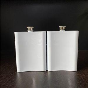 Blank Sublimation 8 oz Flask Portable 304 en acier inoxydable Flasque Cruche Bouteille de vin Whisky Alcool VT1930